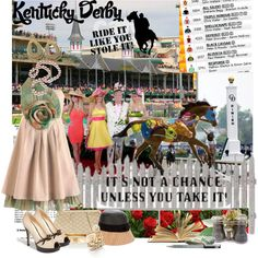 Talk Derby to Me - Kentucky Derby, created by ajkc on Polyvore