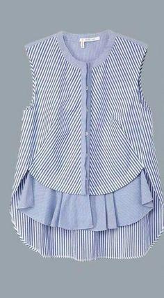 Blouses for women – Lady Dress Designs Frock Design, Fashion Sewing, Kids Fashion, Womens Fashion, Dresses Kids Girl, Kids Outfits, Hijab Fashion, Fashion Dresses, Umgestaltete Shirts