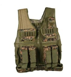 good UAG Tactical Scenario Marpat Woodland Digital Paintball Airsoft Battle Gear Tank-Armor Pod Vest