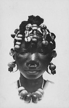 Africa | Sarakole woman. French Sudan (now Mali). ca. prior to 1960 || Scanned postcard.