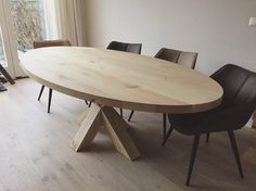 Oval industrial table made by Table du Sud Oval Table, Dining Table, Handmade Furniture, Home Furniture, Industrial Table, Office Desk, Designer, Inspiration, Kitchen