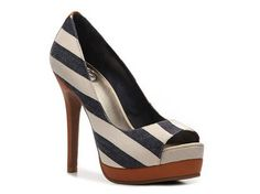 JS by Jessica Edith Stripe Pump American Classics Hot Spring Styles Womens  Shoes - DSW