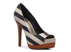 JS by Jessica Edith Stripe Pump Platforms Pumps & Heels Women's Shoes -