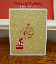 CTMH Make it Marry Stamp Set with Confetti Stars embossing folder and circle diffuser.