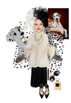 """Cruella Devil"" by arwjesus on Polyvore featuring Amara, NARS Cosmetics, Trust Toilette, Yves Saint Laurent, Zara, Mark Broumand, Oscar de la Renta, Lane Bryant, Chanel and Dolce&Gabbana"
