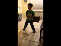 Funny kid dancing to some old school hip hop