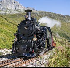 9 Dampfbahn Furka Bergstrecke HG 3/4 at Realp, Switzerland by Georg Trüb