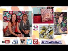 Programa 02 ArteZ TV 30-3-17 Óleo-Venecitas personalizadas-Decoupage-Eniarte - YouTube