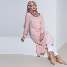 Kireina Kurti Pink  Wear plain or add some print ... Shop online aabcollection.com &  in-store @broadwaybradford @eastshopping  #aabcollection #kurtis #midi #modestfashion #hijab