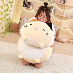 Kawaii Plushies Huge Sleeping Buddies V2 Collection Cute Stuffed Animals Kawaii Plush, Kawaii Room, Cute Stuffed Animals, Birthday Gifts For Kids, Soft Pillows, Kids Pillows, Totoro, Cute Dogs, Food Plushies