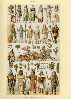 """gaulois fashion  '' the complete costume  history - auguste racinet """""""