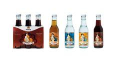 Packaging design per Polara, Modica (Ragusa): etichette e cluster bibite vintage