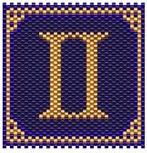 Gemini Zodiac Sigil - Item Number 4089