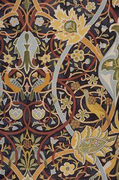 William Morris. Bullerswood carpet design (Morris' own design work), 1889 (The Textile Blog)