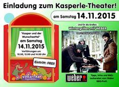 Gongoll Einladung zum Kasperle-Theater und Weber Grillen