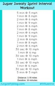 Thirty Minute Sprint Interval Workout