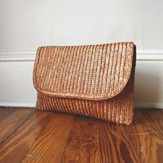 Autumn Straw Woven Vintage Clutch Purse by VimVigorVintage Vintage Clutch, Straw Handbags, Prop Design, Sisal, Baggage, Fashion Handbags, Handbag Accessories, Lust, Purses And Bags