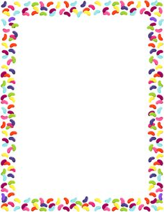 Page border featuring jelly beans. Free downloads at http://pageborders.org/download/jelly-bean-border/