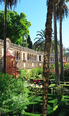 The Real Alcazar, Seville, Spain was originally developed by Moorish Muslim Kings and is simply beautiful. Don't miss it when in Seville!