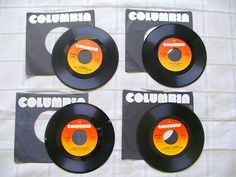 45 rpm vinyl records TOWER of Power PHOEBE Snow KOKOMO lot of 4 all Columbia Label vintage 1970s