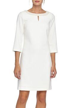 d9dccb97f072 Tahari Embellished Neck Woven Sheath Dress available at  Nordstrom Krátke  Šaty