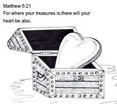 Treasures in Heaven Bible Craft Bible crafts more Pinterest