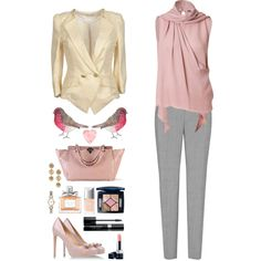 A fashion look from August 2013 featuring Emilio Pucci blouses, Eyedoll blazers and Reiss pants. Browse and shop related looks.