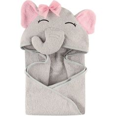 Hudson Baby Girls' Animal Hooded Towel, Choose Your Color
