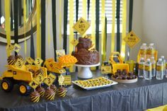 dump truck baby shower theme - Google Search
