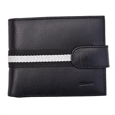 Stylish men's Leather Wallet from the Urban collection Designed by Anna and Robert - Spain Made from lovely soft Spanish Hide leather unusual get stylish stripe design.