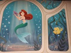 There's an Ariel mural you can see from the elevator of the Wonder, and it's beautiful.