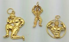 weight lifter fitness charm jewelry real sterling silver muscle man bodybuilder Real Sterling silver 925 pendant Charm jewelry by princeofdiamonds
