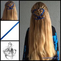 Halfup hairstyle with a weave and blue ribbon from Goudhaartje.nl   This hairstyle is inspired by: @_elvira_alexa  #hair #hairstyle #weave #ribbonbraid #ribbon #longhair #beautifulhair #gorgeoushair #stunninghair #braid #braids #plait #plaits #trenza #blonde #blondehair #hairinspo #hairinspiration #hairideas #braidideas #braidinspiration #goudhaartje