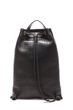 Marni Lamb Leather Backpack in Coal