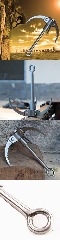 Carabiners and Hardware 50814: Grappling Hook, Handmade Outdoor Climbing Folding Carabiner With 3-Claws -> BUY IT NOW ONLY: $35.04 on eBay!