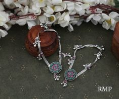 RMP Jewellers - Jewellers in MeerutFor more information - Jewellers in Meerut Silver Anklets Designs, Gold Mangalsutra Designs, Anklet Designs, Silver Payal, Oxidised Jewellery, Silver Gifts, Wholesale Jewelry, Jewelry Stores, Costume Jewelry