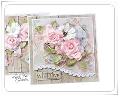 Wood and roses - love it every time. Use spellbinders borders.