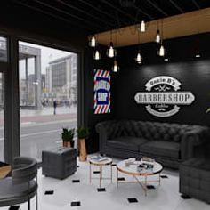 Barber Shop Interior, Hair Salon Interior, Barber Shop Decor, Salon Interior Design, Barber Shop Pictures, Tattoo Shop Decor, Tattoo Studio Interior, Barber Shop Pole, Barber Logo