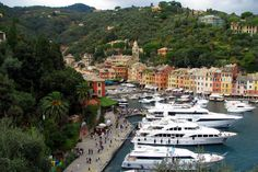 Portofino, Italy  A small Italian fishing village, commune and tourist resort located in the province of Genoa on the Italian Riviera. The town crowded round its small harbor is considered to be among the most beautiful Mediterranean port.