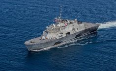 The littoral combat ship USS Fort Worth (LCS 3) transits in formation with ships from the Royal Malaysian navy as part of Cooperation Afloat Readiness and Training (CARAT) Malaysia 2015.