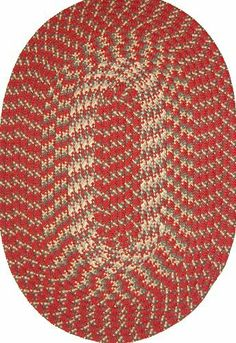 Hometown 8' x 11' Braided Rug in Colonial Red by Constitution Rugs LLC. $234.95. Reversible for added wear. Manufactured 100% in the U.S.A. 100% Nylon BCF surface yarns. Rugged Tubular Braid Construction. Stitched with Polyester sewing thread. Our longest selling tubular braid product! Complementary colors both bright and muted are carefully blended into this truly colonial styled rug. Bring the warmth of New England into your kitchen, den or bedroom!