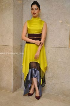 Tamannaah at Okkadochaadu Music Launch Stylish Dresses, Stylish Outfits, Casual Dresses, Long Dresses, Maxi Dresses, Western Dresses, Indian Dresses, Kurta Designs, Blouse Designs