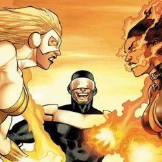 Moonstone vs Satana by Kev Walker Thunderbolts