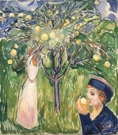 Two Women in the Garden-1919 by Edvard Munch