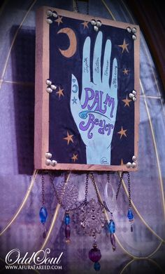 Your place to buy and sell all things handmade Halloween Cubicle, Holidays Halloween, Halloween Decorations, Fortune Teller Costume, Trunk Or Treat, Witch Art, Hand Shapes, Mixed Media Painting, Hand Designs