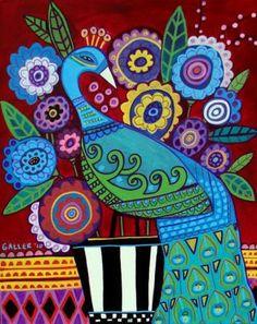 Peacock Art - Heather Galler