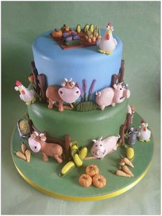 Hay Day Cake :) I WANT THIS!!! My husband better get one made for my B-Day!!