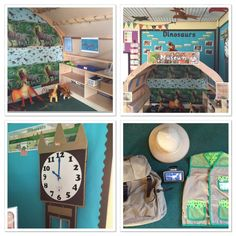 I extended the Dinosaur Museum role play area, so that it is now Andy's Dinosaur Adventures themed! I added in the grandfather clock, Hattie's backpack, gizmo, hat and jacket! The children are in their element! #AndysDinosaurAdventures #roleplay #kasbah