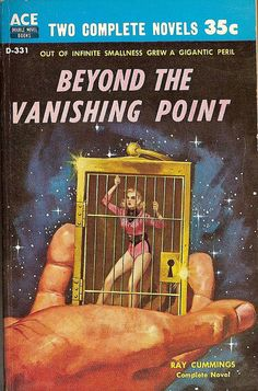 Ray Cummings: Beyond the vanishing point.  Ace 1958.  Cover by Ed Emsh.