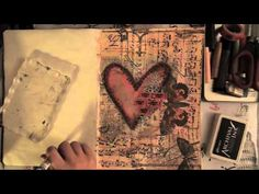 Creating an Art Journal Page with Faber-Castell Gelatos and Tim Holtz Distress Paints. All supplies (with links) used in this video are listed on my blog (se...